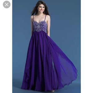 DAVE & JOHNNY PURPLE DRESS GOWN SIZE 5/6